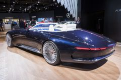 2018 Vision Mercedes-Maybach 6 Cabriolet car. BRUSSELS - JAN 10, 2018: Vision Mercedes Maybach 6 Cabriolet car showcased at the Brussels Motor Show Royalty Free Stock Photography
