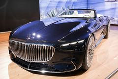 2018 Vision Mercedes-Maybach 6 Cabriolet car. BRUSSELS - JAN 10, 2018: Vision Mercedes Maybach 6 Cabriolet car showcased at the Brussels Motor Show Stock Photo