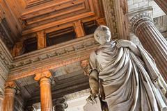 Brussels, justice palace, vestibule, Cicero Royalty Free Stock Photo