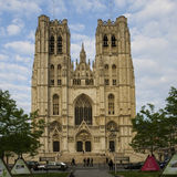 brussels katedra obrazy stock