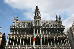 Brussels landmark. Famous building: Maison du Roi (The King's House or Het Broodhuis) in Brussels, Belgium. Located on Grote Markt (Main Square Stock Photography
