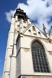 Brussels landmark. Brussels, Belgium. Church in district Marolles (Marollen). Notre Dame de la Chapelle (Kapellekerk). Romanesque-Gothic style Stock Photography
