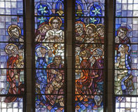 Brussels  - Last supper of Christ - basilica Stock Photo