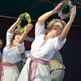 Brussels Latvian Dancers Royalty Free Stock Photography