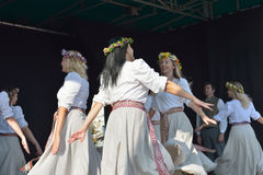 Brussels Latvian Dancers Stock Photography