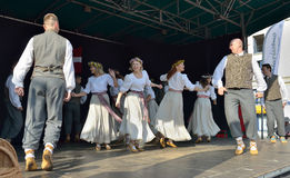 Brussels Latvian Dancers or Briseles Latviesu Dejotaji Stock Images