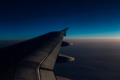 Brussels. Lets го travel the world with airplane.Amazing view royalty free stock photography