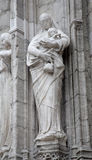 Brussels - Love - portal of Notre Dame du Sablon Royalty Free Stock Photos