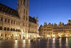 Brussels - The main square and Town hall Stock Image