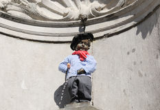 Brussels Manneken Pis with beret Stock Photos