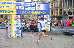 Brussels Marathon stock photo