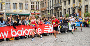 Brussels Marathon royalty free stock photography