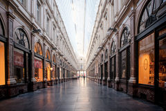 BRUSSELS - May 20: Royal Galleries of Saint-Hubert on May 20, 2015 in Brussels. Stock Photos