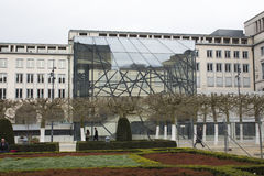 Brussels modern art. This is a really outstanding modern building in Brussels, Belgium royalty free stock photo