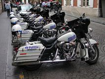 Brussels - Motorcycles police Stock Images