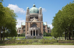 Brussels - National Basilica of the Sacred Heart Stock Photo