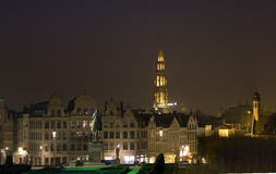 Brussels at night Royalty Free Stock Images