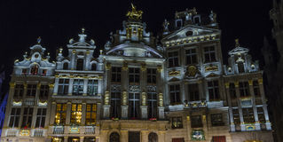 Brussels by night Royalty Free Stock Photos
