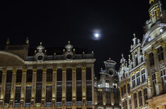 Brussels by night Stock Photography
