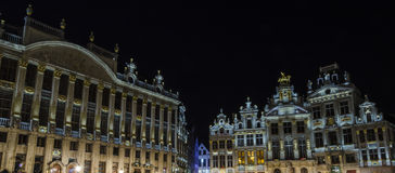Brussels by night Stock Photos