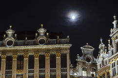 Brussels by night Royalty Free Stock Photo