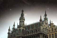 Brussels night. Royalty Free Stock Photo
