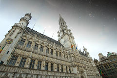 Brussels night. Royalty Free Stock Photography