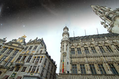 Brussels night. Elements of this image furnished by NASA Royalty Free Stock Images