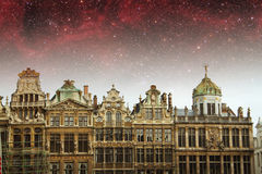 Brussels night. Stock Photography