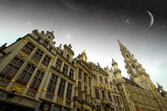 Brussels night. Stock Photo