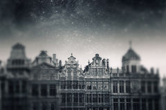 Brussels night. Elements of this image furnished by NASA Stock Image
