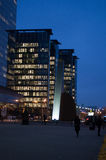 Brussels by night. An office building near North station in Brussels by night Stock Image