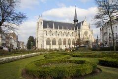 Brussels. Notre Dame de Sablon. Royalty Free Stock Photography