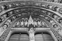 Brussels - Notre Dame du Sablon gothic church Stock Photography