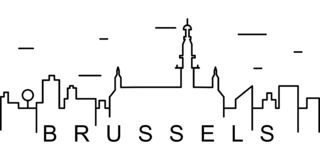Brussels outline icon. Can be used for web, logo, mobile app, UI, UX vector illustration