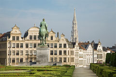 Brussels - Outlook from Monts des Arts Stock Image