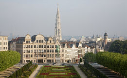 Brussels - Outlook from Monts des Arts Royalty Free Stock Photo