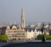 Brussels - Outlook from Monts des Arts Stock Photos