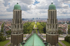 Brussels - outlook from National Basilica Royalty Free Stock Photos