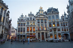 Brussels - Palaces from 17. and 18. cent. on the Main square Stock Photography