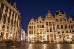 Brussels - Palaces in the main square of Grote Markt Stock Photos