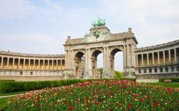 Brussels - Parc du Cinquantenaire in the European Quarter Royalty Free Stock Image
