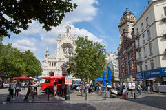 Brussels Place Ste Catherine Stock Image