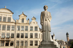 Brussels - The Queen Elisabeth statue Stock Photos