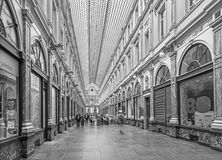 Brussels - Royal Galeries of st. Hubert. The galleries was opened in year 1846. Stock Photo