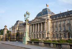 Brussels - The Royal Palace in evening Stock Photography