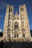 Brussels - Saint Michael and Saint Gudula c Royalty Free Stock Image