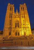 Brussels - Saint Michael and Saint Gudula gothic cathedral - wes Royalty Free Stock Photos