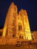 Brussels - Saint Michael and Saint Gudula gothic cathedral Royalty Free Stock Photo