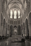 Brussels - Sanctuary of gothic cathedral of Saint Michael Royalty Free Stock Image